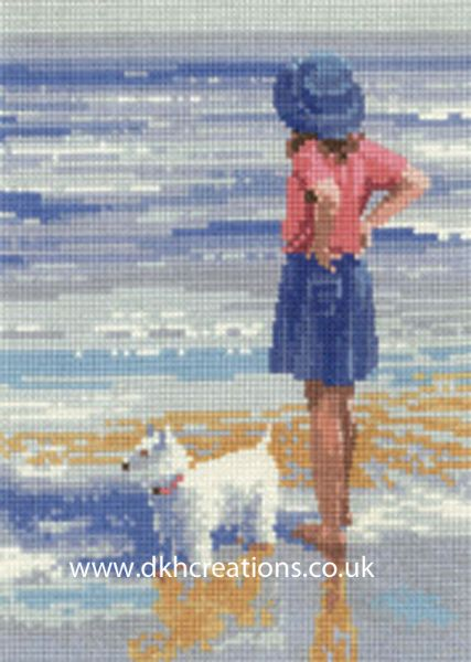 Wave Watching Cross Stitch Kit